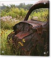 Lonely Car On The Prairie Acrylic Print