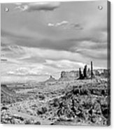 Lonely Cloud And Totem Pole - Monument Valley Tribal Park Arizona Acrylic Print