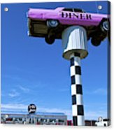 Lonely Diner With Pink Cadillac Acrylic Print