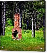 Lonely Fireplace Acrylic Print