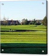 Lonely Golfer Acrylic Print