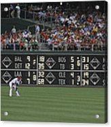 Lonely In Center Field Acrylic Print by Dave Hall
