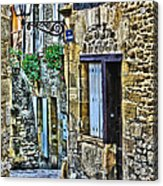 Lonely Lane In Sarlat France Acrylic Print