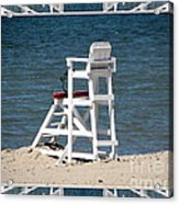 Lonely Lifeguard Station At The End Of Summer Acrylic Print