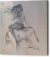 Lonely Mermaid Acrylic Print