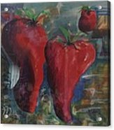 Lonely Peppers Acrylic Print