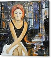 Lonely Woman Lonely Man Acrylic Print