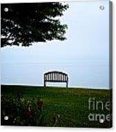 Lonesome Bench Acrylic Print