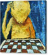 Lonesome Chess Player Acrylic Print
