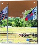 Lonestar Park - Backstretch - Photopower 2205 Acrylic Print