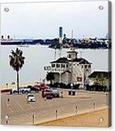 Long Beach Bay California / Tintbrush Effect Acrylic Print