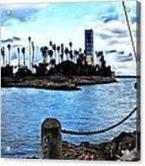 Long Beach Bay / Paintbrush Effect Acrylic Print