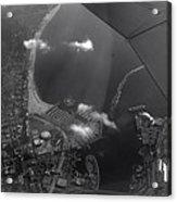 Long Beach Ca Aerial Bw Acrylic Print