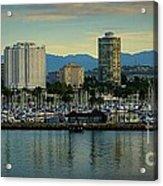 Long Beach Cityscape   Acrylic Print