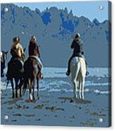 Long Beach Horses Study Acrylic Print