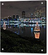 Long Beach Lights Acrylic Print