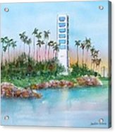 Long Beach Oil Island Acrylic Print