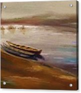 Long Boats At The Crossing Acrylic Print