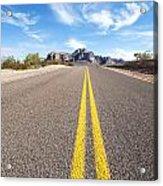 Long Desert Road Acrylic Print