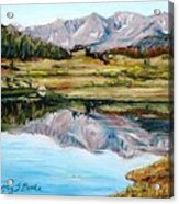 Long Draw Reservoir Acrylic Print