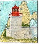 Long Eddy Pt Lighthouse Nb Canada Chart Art Peek Acrylic Print