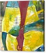 Long Haired  Baby  Girl Acrylic Print