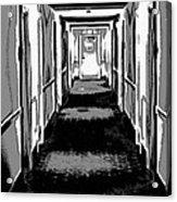 Long Hallway Acrylic Print