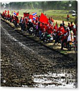 Long Journey Of The Red Rally Acrylic Print
