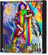 Long Live Rock And Roll Clowns Acrylic Print