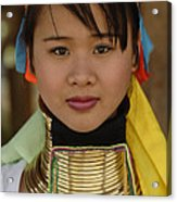Long Necked Woman Of Thailand Acrylic Print