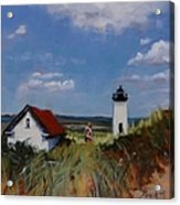 Long Point Lighthouse Acrylic Print by Laura Lee Zanghetti