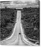 Long Road Ahead  8923bw  Acrylic Print