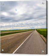 Road To The Sky In Saskatchewan. Acrylic Print