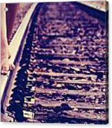 Long Tracks Acrylic Print