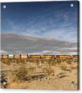 Long Train Near Barstow Acrylic Print