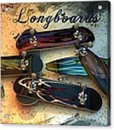Longboards Acrylic Print