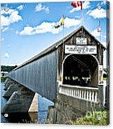 Longest Covered Bridge Acrylic Print