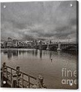 Longfellow Bridge Boston V8 Acrylic Print