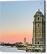 Longfellow Bridge Tower Acrylic Print