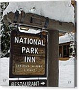 Longmire National Park Inn Acrylic Print