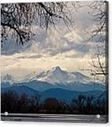 Long's Peak Over Barr Lake Acrylic Print