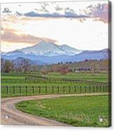 Longs Peak Springtime Sunset View  Acrylic Print