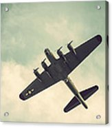 Look Up Vintage B-17 Flying Fortress Acrylic Print
