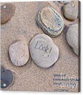 Look - With Haiku Acrylic Print