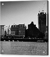 looking across the river thames at the city of London England UK Acrylic Print