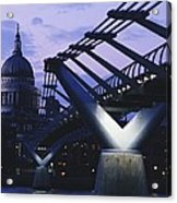Looking Along The Millennium Bridge Acrylic Print