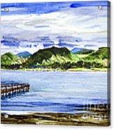 Looking At Morro Bay  Acrylic Print