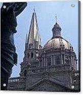 Looking At The Cathedral Guadalajara Mexico Acrylic Print