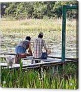 Looking At The Marsh Acrylic Print