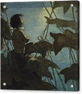 Looking At The Moon Circa 1916 Acrylic Print